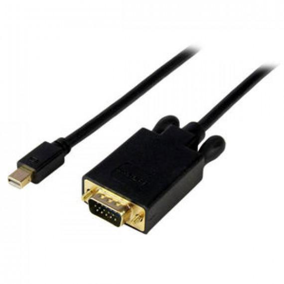 Cordon StarTech.com MDP2VGAMM6 Noir - Mini-DisplayPort vers VGA (Mâle/Mâle) - 1.8 m