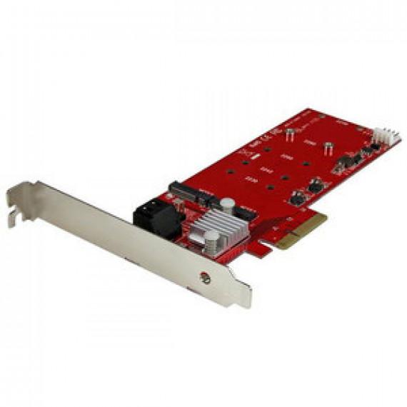 Carte contrôleur STARTECH.COM PEXM2SAT3422 - 2 SSD M.2 NGFF + 2 ports SATA III sur slot PCI-Express 4x