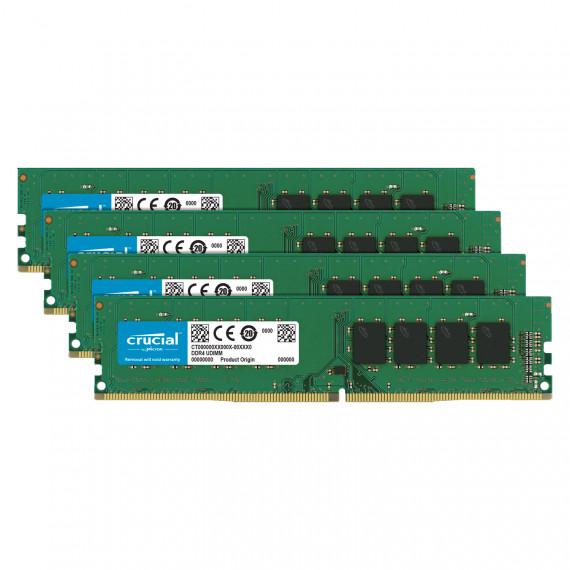 Memoire RAM Crucial DDR4 64 Go (4 x 16 Go) 2666 MHz CL19 Dual Rank X8 - Kit Quad Channel RAM DDR4 PC4-21300 - CT4K16G4DFD8266