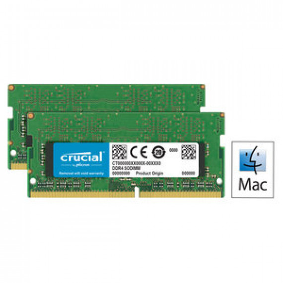 Memoire RAM Crucial for Mac SO-DIMM DDR4 32 Go (2 x 16 Go) 2400 MHz CL17 - Kit Dual Channel RAM DDR4 PC4-19200 - CT2C16G4S24AM