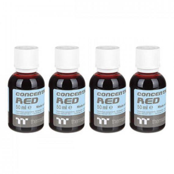 Lot de 4 bouteilles de colorant pour watercooling Thermaltake Premium Concentrate Rouge