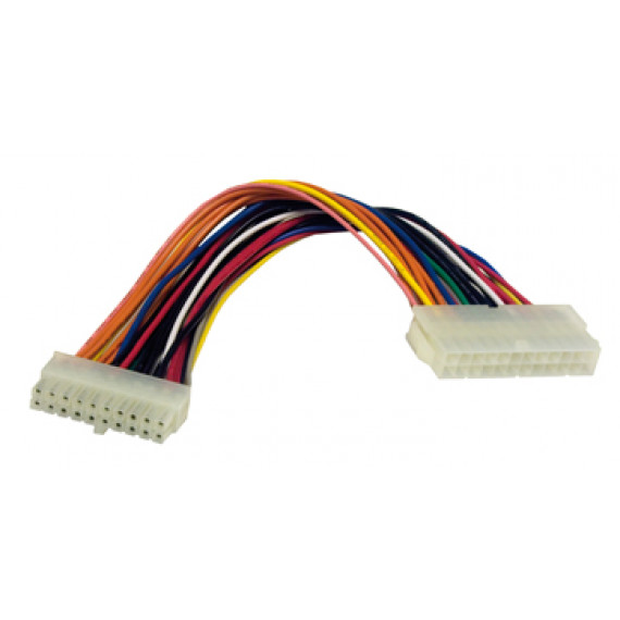 MCL Adaptateur d'alimentation ATX 20 pins mâles / 24 pins femelles - 20cm