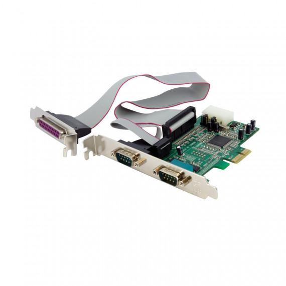 StarTech.com Carte PCI Express avec 2 Ports Série RS232 et 1 Port Parallèle