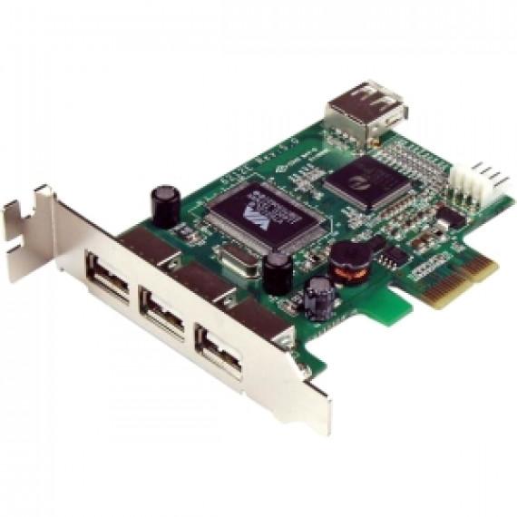 STARTECH Carte Adaptateur PCI Express vers 4 Ports USB 2.0