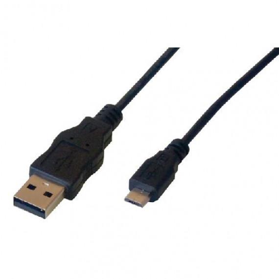 MCL Câble USB 2.0 MCL  type A mâle / micro USB B mâle 1m