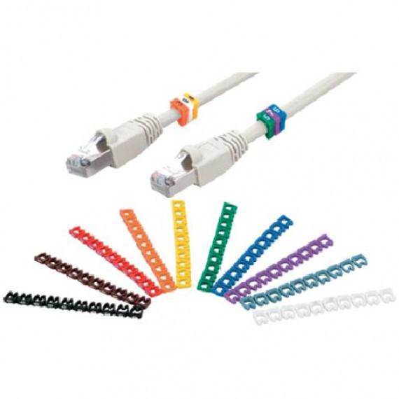 MCL Bagues de marquage numérique 0-9 pour câble 6-7mm