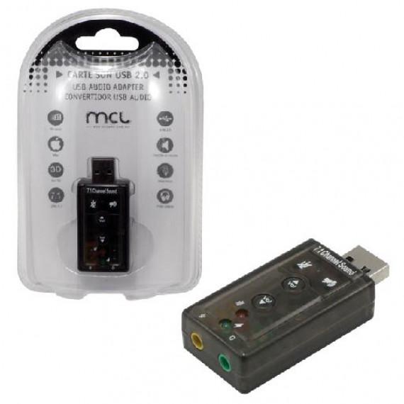 MCL Convertisseur MCL USB 2.0 vers Audio effet 7.1 casque et micro