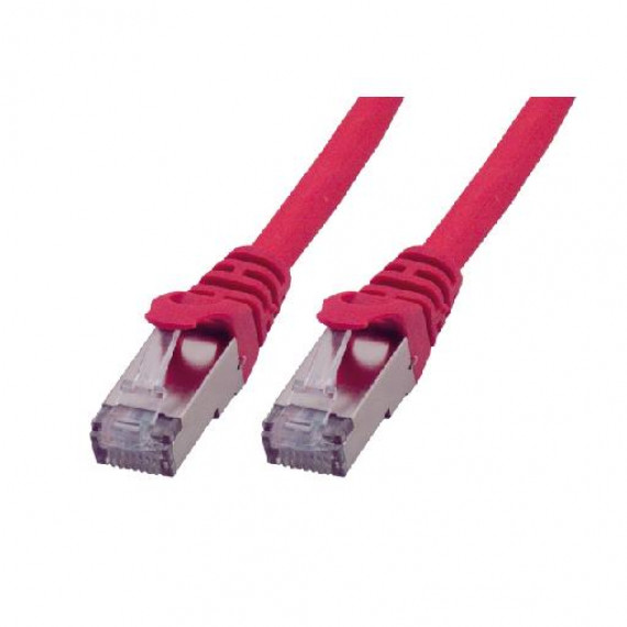 MCL Cordon de brassage RJ45 CAT 6 A S/FTP LSZH MCL 3m Rouge