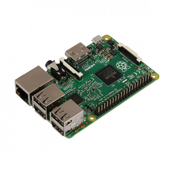 Raspberry Pi 2 Model B Carte mère avec processeur ARM Cortex-A7 Quad-Core - RAM 1 Go - VideoCore IV - RJ45 - HDMI - 4x USB 2.0
